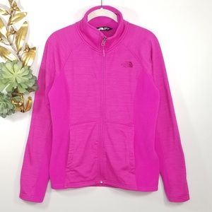 North Face Pink Two-toned Fleece Jacket M